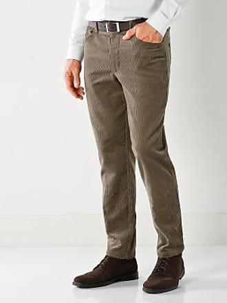 Blancheporte Pantalon droit 5 poches twill coton extensible - marron 11778a61114d