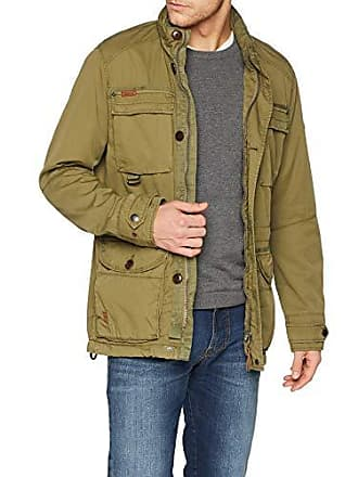 bf795a257c9ee Camel Active 420210 Blouson, Vert (Olive 34), Medium (Taille du Fabricant