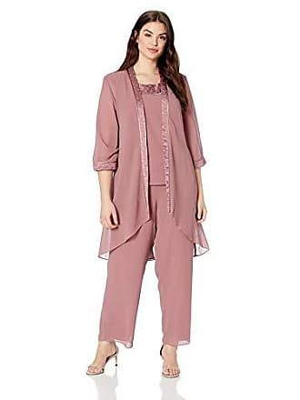 7829e262cb9 Le Bos Womens Size Plus Pleated Charmeuse Pant Set