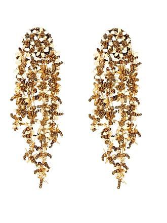 Oscar De La Renta Floral-embellished clip-on earrings