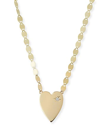 Lana Jewelry 14k Small Heart Pendant Necklace w/ White Diamond