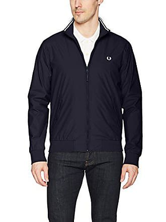 Fred Perry Mens Brentham Jacket, Navy, X-Large