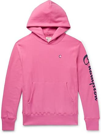 a2ab43f6cbc5 Todd Snyder + Champion Logo-print Loopback Cotton Jersey Hoodie - Pink
