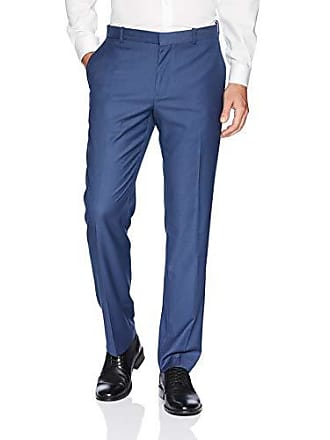 Perry Ellis Mens Stretch, Heather Texture Dress Pant, True Navy, 36W X 30L