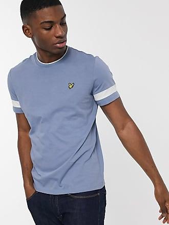 Lyle & Scott T-shirt con righe a contrasto-Blu
