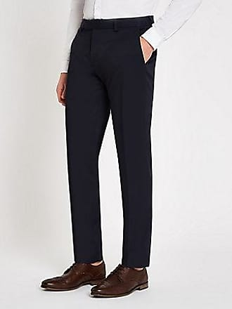 River Island Mens Navy stretch skinny suit pants