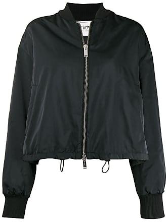 Iceberg logo stripe bomber jacket - Black