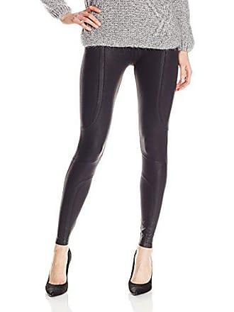 Yummie Tummie Womens Coated Moto Legging Underwear, -black, S