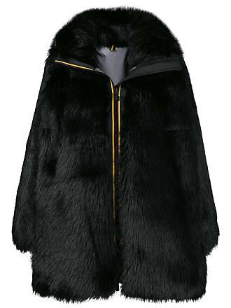 Faith Connexion zipped up fur coat - Black