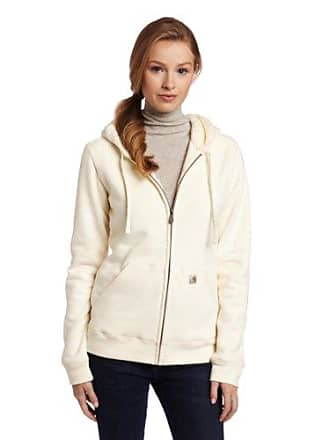 Carhartt Work in Progress Womens Sherpa Hooded Sweatshirt,Winter White (Closeout),X-Large