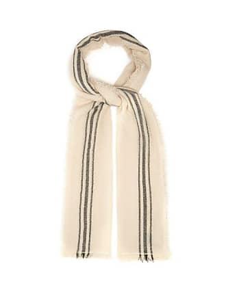 Isabel Marant Vala Striped Fine Knit Scarf - Womens - White