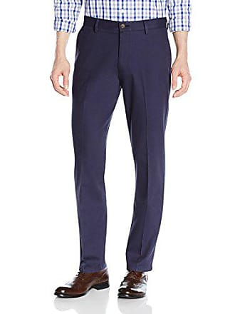 Goodthreads Mens Straight-Fit Wrinkle-Free Dress Chino Pant, Navy, 42W x 32L