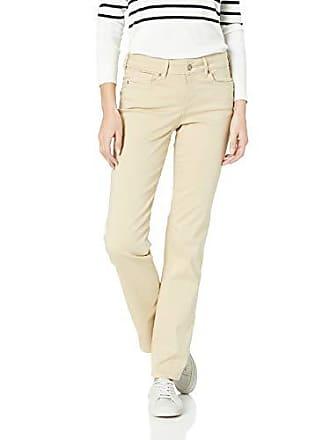 NYDJ Womens Marilyn Straight Leg Denim Jeans, straw, 18