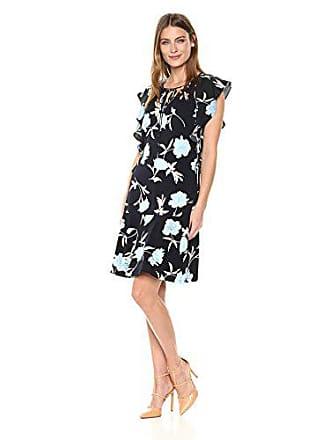 Ellen Tracy Womens Flouncy Sleeve Dress, Premiere Fleur-Ngt, XL