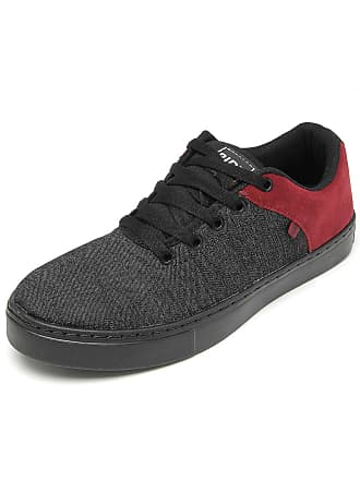Ride Skateboard Tênis Ride Skateboard Denim Preto/Vinho