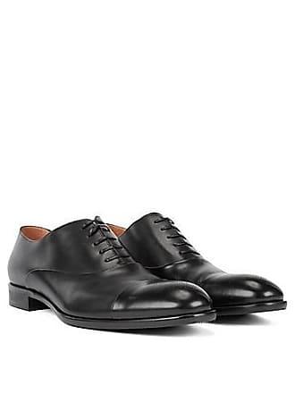 cc37cd91319 BOSS Chaussures Oxford en cuir bruni à motif Richelieu découpé au  laser350.00