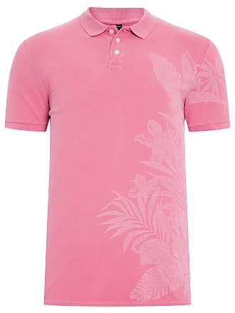 Replay POLO MASCULINA MANGA CURTA FOLHAGEM LATERAL - ROSA