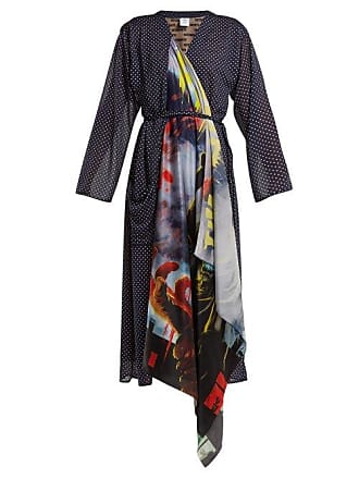 VETEMENTS Scarf Robe Dress - Womens - Navy