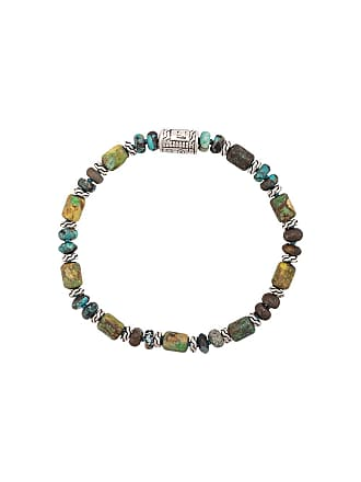 John Hardy Silver Classic Chain Mixed Turquoise Bead Bracelet - Green