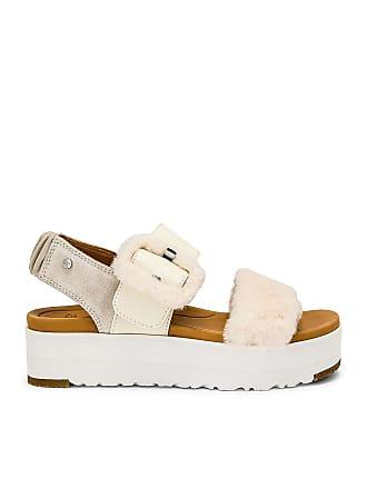UGG Fluff Sandal in White