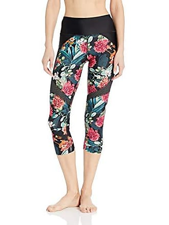 Body Glove Womens Propel Hybrid Surf Capri Swimsuit with UPF 50+, Cleo Black Floral, Small