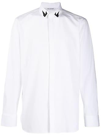 Neil Barrett Camisa com estampa no colarinho - Branco