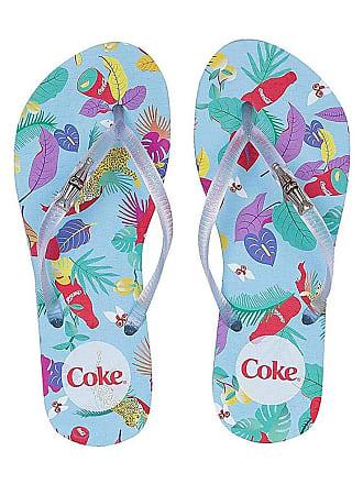Coca Cola Ware Chinelo Coca-cola Tropicoke Fun Feminino - Cores(azul) Tamanho Calçado(33-34)