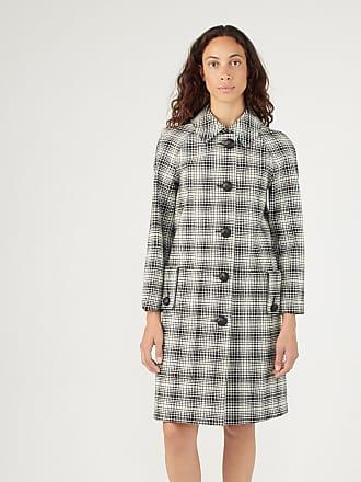 Burberry Manteau ajusté femme en laine à motif check Noir Burberry bad4b330ae7
