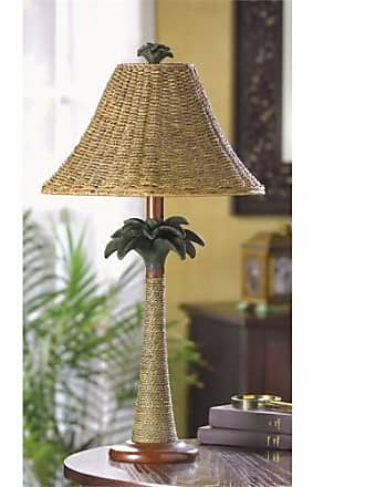 Zingz & Thingz Zingz and Thingz Palm Tree Rattan Table Lamp