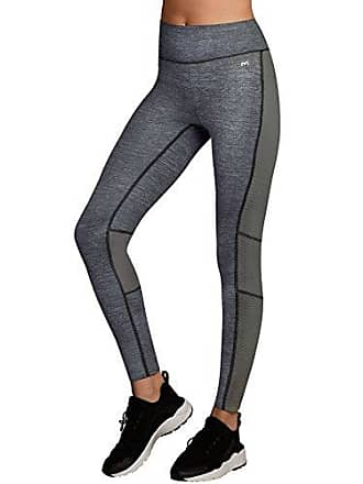 Maidenform Womens Sport Baselayer Active Pant, Charcoal Heather Print/Black, X Large