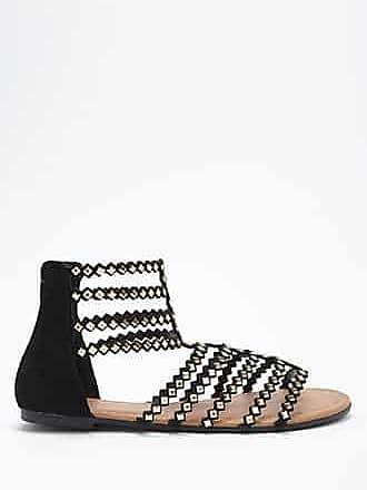 057d4925f538f Forever 21 Forever 21 Embellished Faux Suede Gladiator Sandals, Black