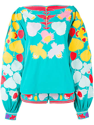 Yuliya Magdych embroidered co-ord set - Blue
