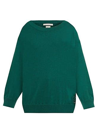 Queene and Belle Queene And Belle - Round Neck Cashmere Sweater - Womens - Dark Green