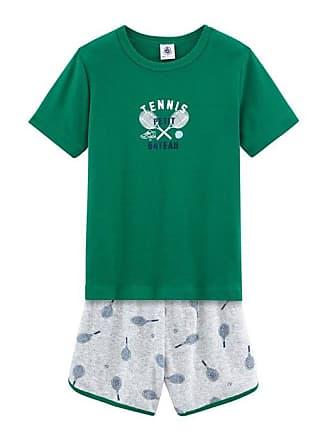 094a24974 Petit Bateau Pijama corto de rizo picado para niño