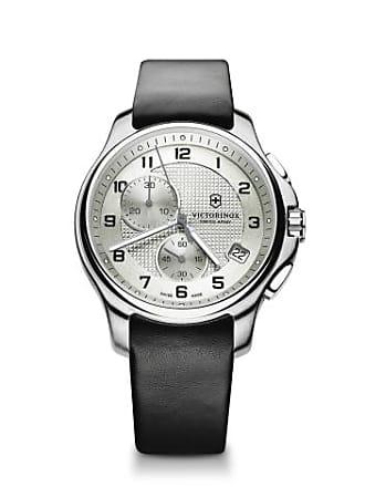Victorinox by Swiss Army Swiss Army Officers 241553 Black/Silver Analog Quartz Mens Watch