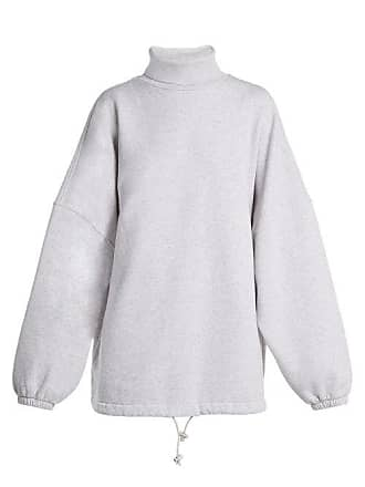 3eeef421c Balenciaga Oversized Roll Neck Cotton Sweatshirt - Womens - Light Grey