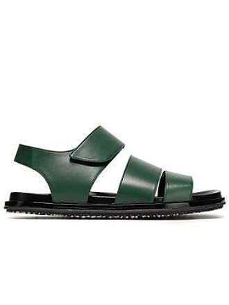 Marni Marni Woman Leather Sandals Dark Green Size 37