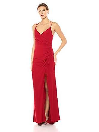 Adrianna Papell Womens Spaghetti Strap Long Matte Jersey Dress, Cardinal, 16