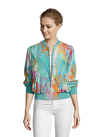 Robert Graham Womens Meredith Palm Print Silk Jacket In Size: XS by Robert Graham