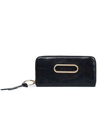 c21a54fdc6615 See By Chloé See By Chloé Woman Cracked-leather Wallet Black Size