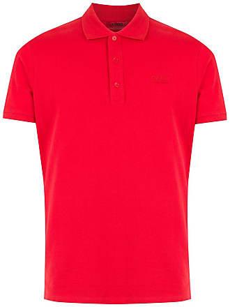 HUGO BOSS Camisa polo com bordado - Vermelho