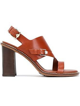 b71bed644f Tod's Tods Woman Cutout Leather Sandals Light Brown Size 38.5