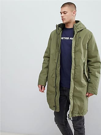 G-Star sherpa lined hooded parka in green - Green