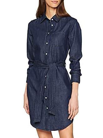 ab49b9d92d97a4 Jacqueline de Yong Jdyesra Shirt Dress DNM Noos Vestito, Blu Dark Blue  Denim, 42