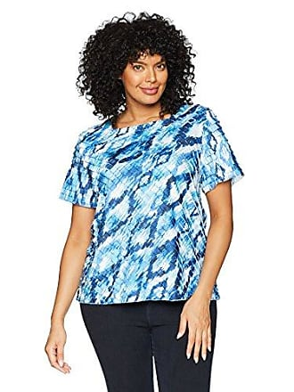 16188ad130707 Alfred Dunner Womens Plus-Size Diamond Tiered Blouse