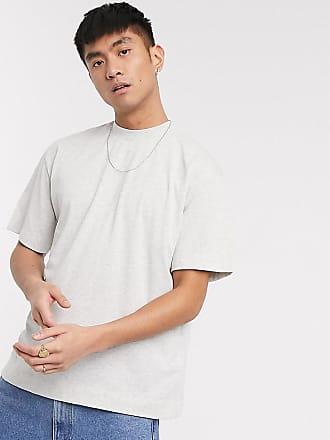 Collusion Kalkgraues T-Shirt-Weiß