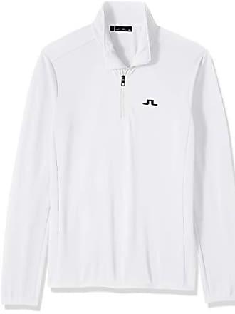 J.Lindeberg Mens Half Zip Midlayer Jacket, White, Large