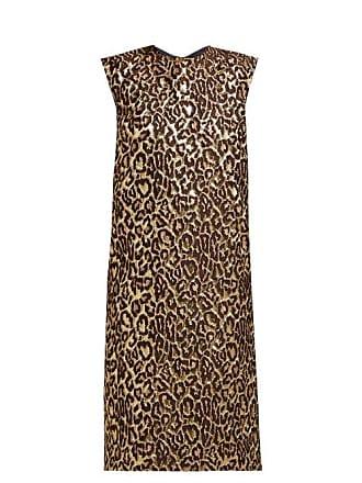 Rochas Onyx Metallic Jacquard Leopard Print Dress - Womens - Leopard