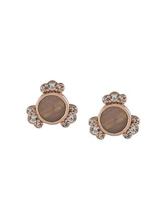 Astley Clarke Par de brincos Mini Lace Agate Luna banhados a ouro 18k - Metálico