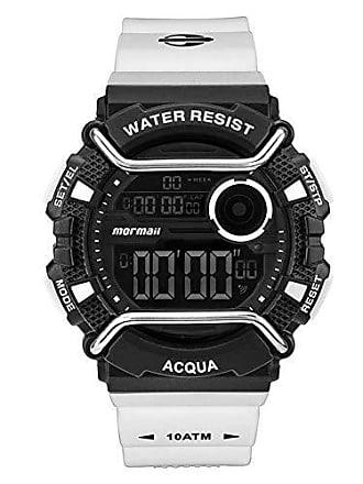 Mormaii Relógio Masculino Mormaii Acqua Pro MONXA/8P - Branco/Preto